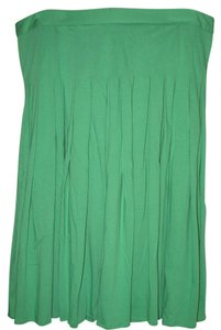 Theory Jersey Cotton Skirt Kelly Green