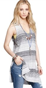 Free People Tunic Beach Rugby Yarn Hoodie Hooded Sleeveless Allover Combo New With Tags Sweater