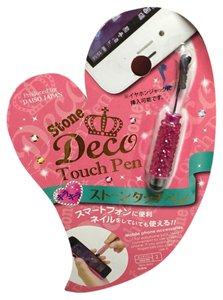 Other Japanese Brand Hot Pink Stone Deco Stylus
