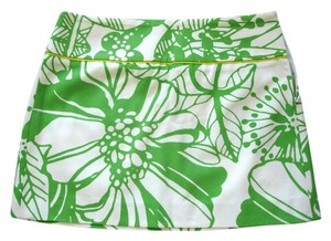 J.Crew Mini Printed Flower Mini Skirt green