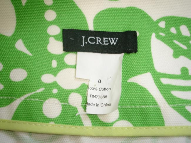 J.Crew Printed Flower Mini Skirt green
