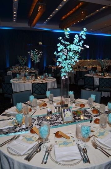 Tiffany Blue Centerpiece Flowers Reception Decoration