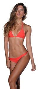 Acacia swimwear Red Acacia Bikini, Top Is XS Bottoms Are Small