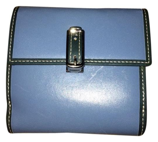 Coach Blue Leather Coach Wallet