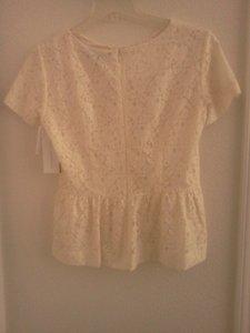 French Connection Lace Top cream
