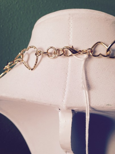 Peter M Heart Links Smooth & Hammered Necklace
