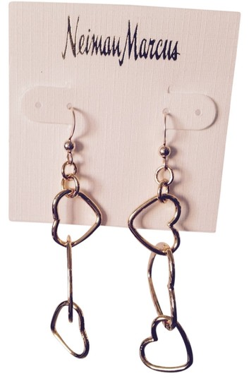 Peter M Heart Links Smooth & Hammered Dangle Earrings