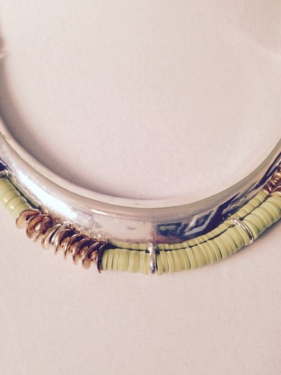 Kenneth Cole Lime Green & Bronze Half Moon Design Necklace
