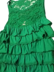 Abercrombie & Fitch Ruffles Girly green and purple Halter Top