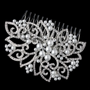 Bella Tiara Romantic Bold Pearl And Rhinestone Wedding Hair Comb