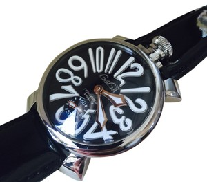 Gaga Milano GAGA MILANO 5010 Manual 48mm Steel Black&white Dial