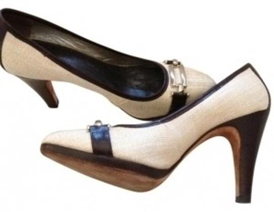 Banana Republic Nude with brown and silver accents Pumps