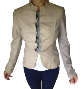 Emporio Armani Beige Leather Jacket