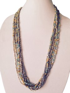 Kenneth Cole Kenneth Cole Turquoise, Yellow & Silver Long Multi-Strand Necklace Necklace Only! Matching Pieces Sold Seperately