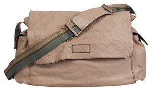 Gucci Embossed Leather Pink Diaper Bag