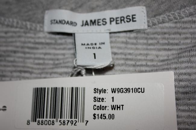 James Perse Shirt And Size 1 / Small Heathered Raglan Pullover Sweatshirt