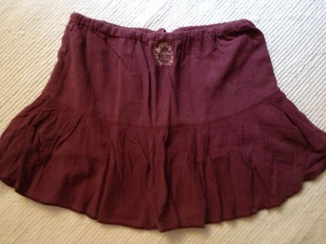 Abercrombie & Fitch Skirt Maroon