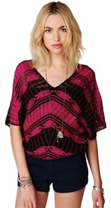 Free People Shirt Weave-me Tee Open Weave Size Small Sweater