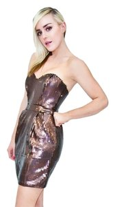 Naven Sequin Strapless Dress