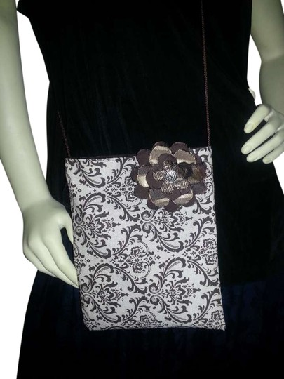 Gypsy Blue Cloth Flower Cross Body Bag