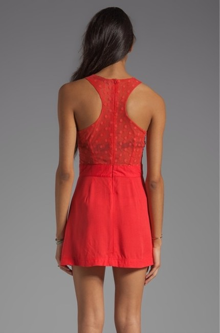 This is Not a Love Song short dress Red Sheer Skater on Tradesy
