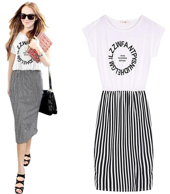 Preload https://item5.tradesy.com/images/white-black-chic-b-and-w-striped-pencil-short-casual-dress-size-8-m-3371239-0-0.jpg?width=400&height=650