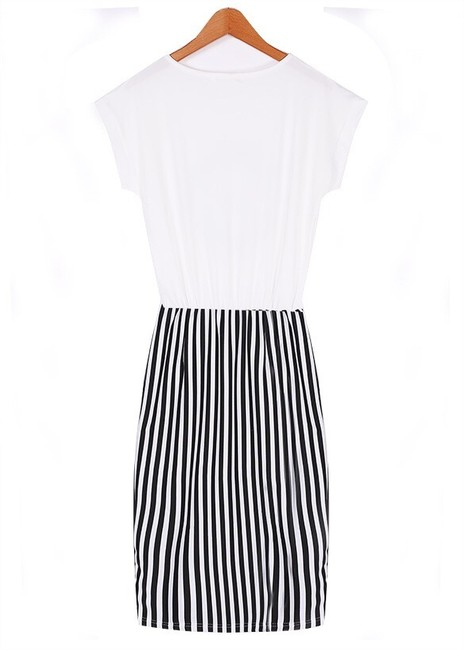 Boutique short dress White Black on Tradesy