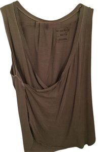 Free People V-neck We The Free Draped Top Green