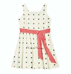 Garnet Hill short dress Orange, Coral, Ivory New Without Tags Polka Dot Fit Flared 1950s on Tradesy
