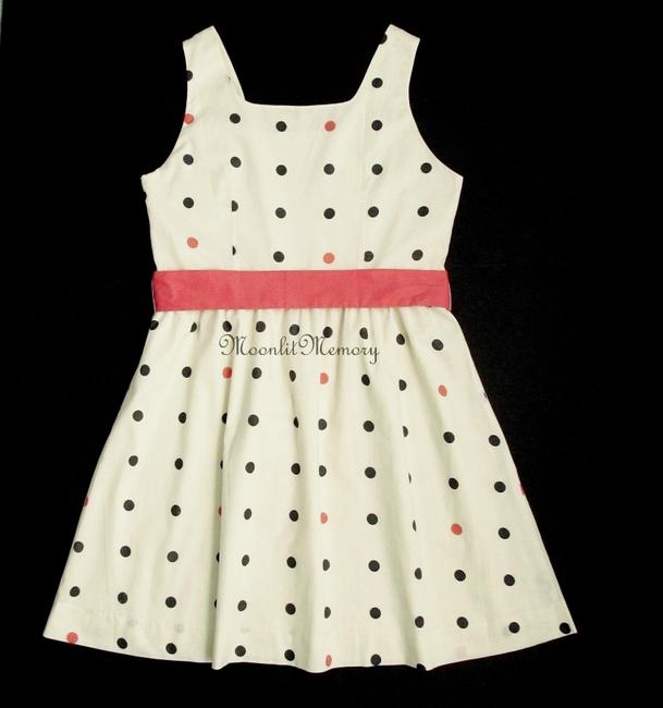 Garnet Hill short dress Orange, Coral, Ivory New Without Tags Polka Dot Fit Flared 1950s on Tradesy Image 2
