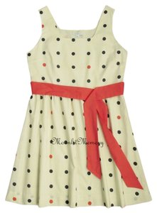 Garnet Hill short dress Orange, Tan, Blue New Without Tags Dots on Tradesy