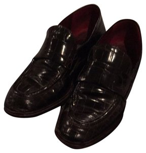 Donna Karan Dark Brownish Burgundy Flats