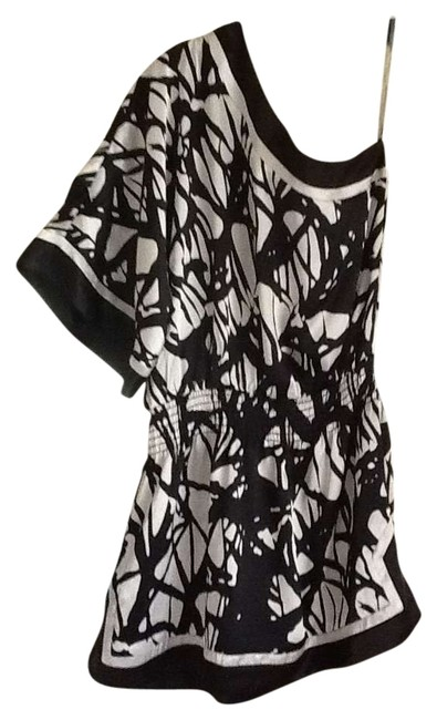 Grass Collection short dress Black & whire on Tradesy