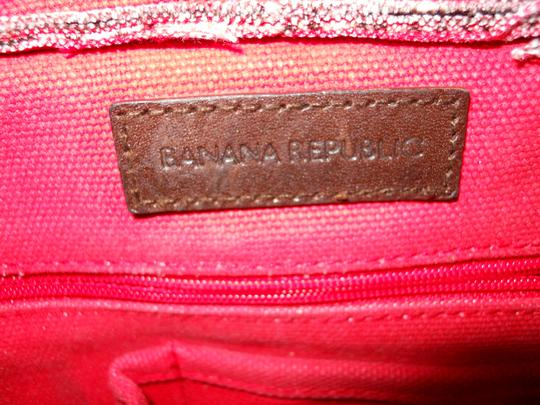 Banana Republic Tote in brown, red & white