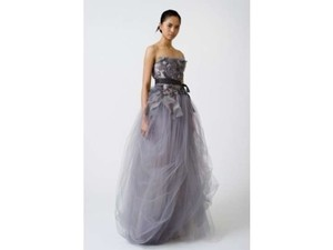 Vera Wang Ivory/Blush Tissue Organza and Tulle Felicity Feminine Dress Size 6 (S)