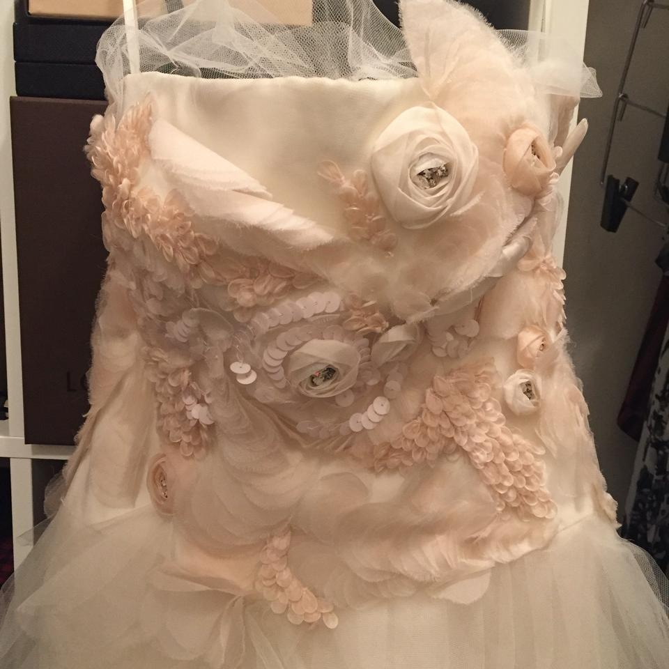 Vera Wang Ivory/Blush Tissue Organza and Tulle Felicity Feminine ...