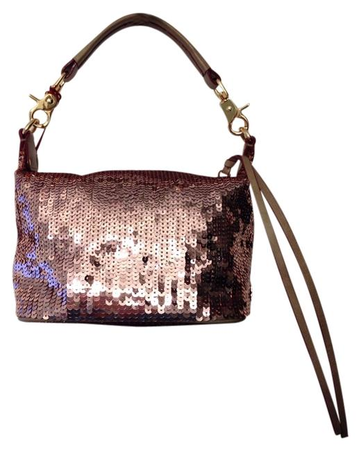 Item - Chloe Rose Gold Sequins / Leather Clutch