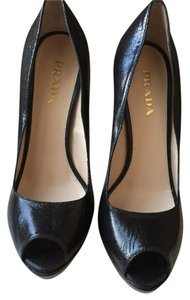 Prada Black/dark Gray Pumps
