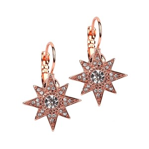 Mariell Rose Gold Celestial Stars Prom Or Bridesmaid Euro Wire 4346e- Earrings
