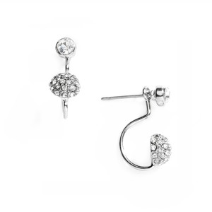 Mariell Silver Sophisticated Pave Crystal Suspension 4351e-s Earrings