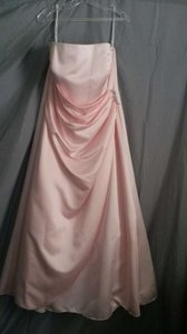 David's Bridal Pink Bridesmaid 8567 Dress