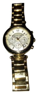 Michael Kors Michael Kors Gold Steel Chronographic Bracelet Bangle Watch
