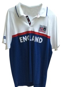 Nautica Men's Polo Polo England Uk T Shirt White