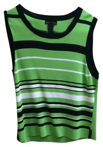 Grace Dane Lewis Petite Work Petite Color-blocking Work Top Green