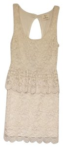 Pins and Needles short dress Ivory on Tradesy