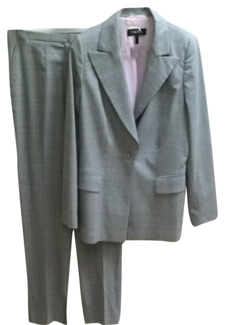 Item - Grey Pink Houndstooth Pant Suit Size 12 (L)