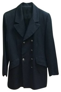 Marks & Spencer Military Vintage Vintage Military Coat Military Style Coat Grey Blazer