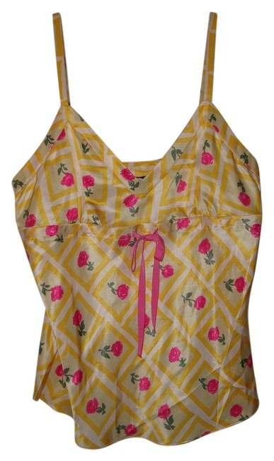 J.Crew Top Yellow & Pink
