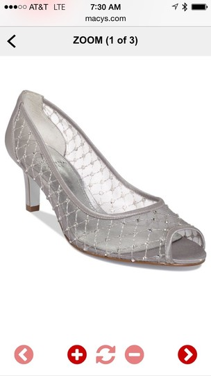 Adrianna Papell Pumps Heels Wedding Pumps Silver Formal