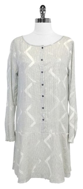 Preload https://item1.tradesy.com/images/theory-theyskens-geo-print-cotton-and-silk-blend-mid-length-short-casual-dress-size-12-l-3374005-0-0.jpg?width=400&height=650